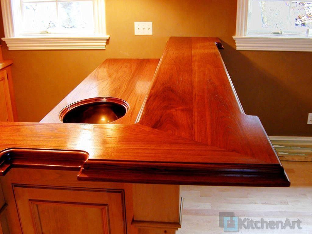 17 wood bartop marine oil finish 1024x768 - Столешница из дерева под заказ