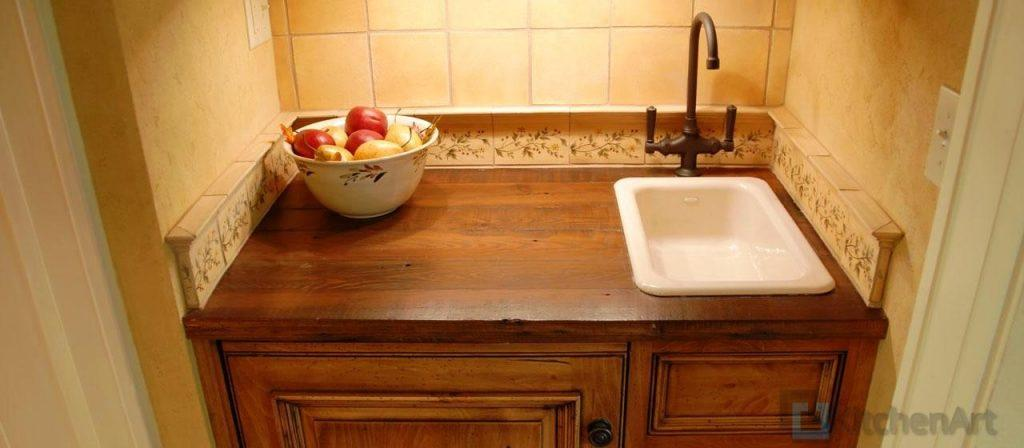 Antique Heart Pine Rustic Counter Top 5 1024x448 - Столешницы из дерева на заказ Днепр