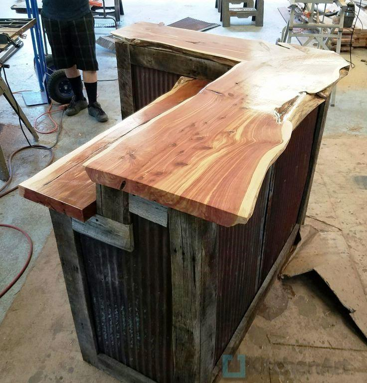 bar layout barn tin - Столешница из дерева под заказ