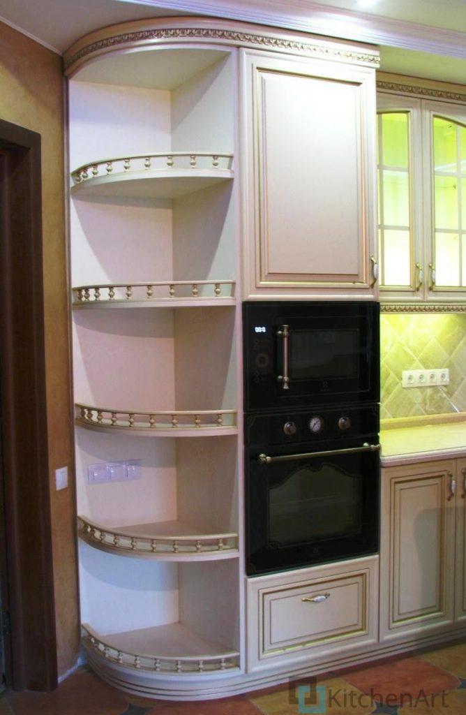 китченарт1 668x1024 - Шпонированная кухня на заказ
