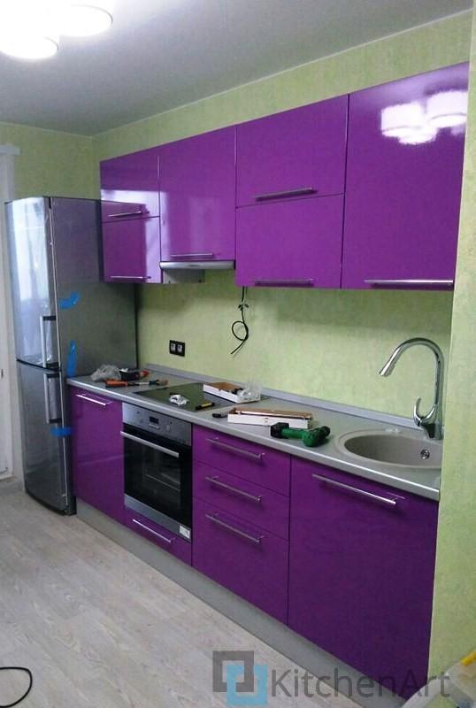 китченарт118 - Фиолетовая кухня на заказ