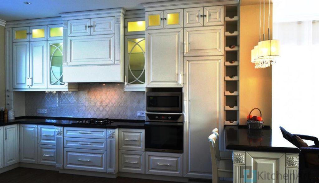 китченарт12 1024x588 - Белая кухня на заказ