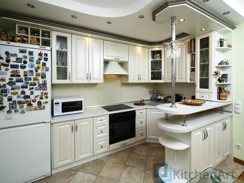китченарт129 - Белая кухня на заказ