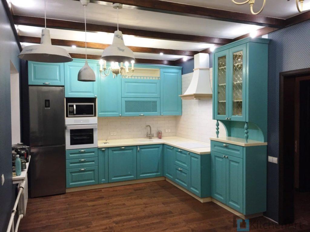 китченарт148 1024x768 - Синяя кухня на заказ