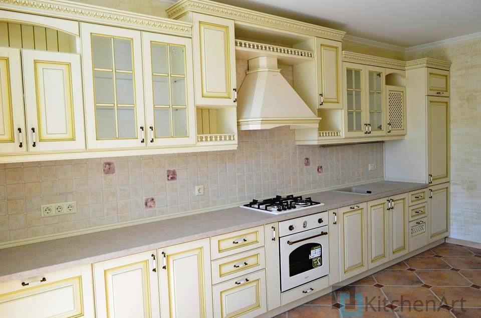 китченарт15 - Белая кухня на заказ