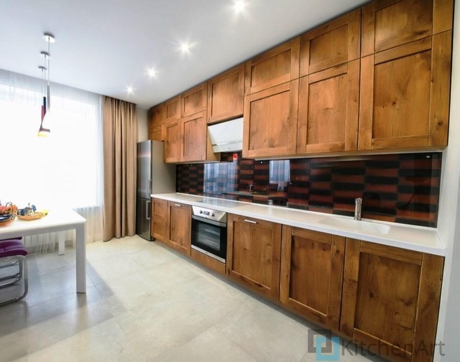 китченарт166 - Шпонированная кухня на заказ