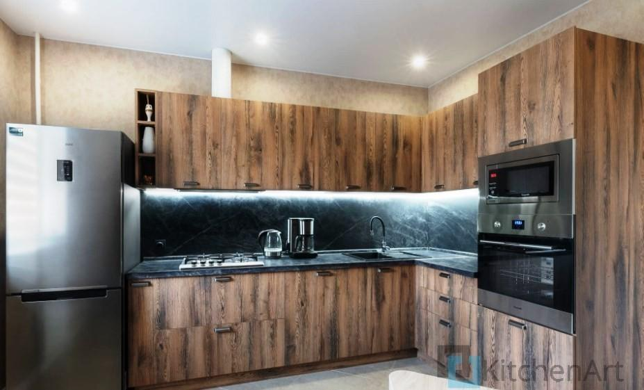 китченарт224 - Шпонированная кухня на заказ