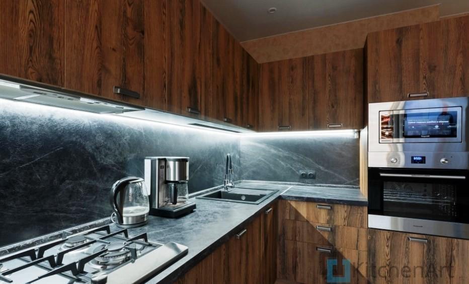 китченарт225 - Шпонированная кухня на заказ