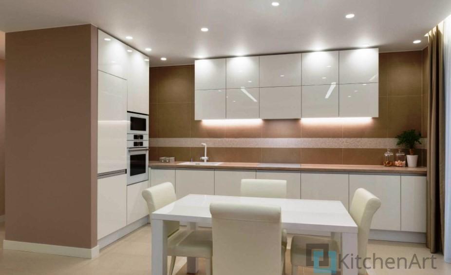 китченарт229 - Белая кухня на заказ