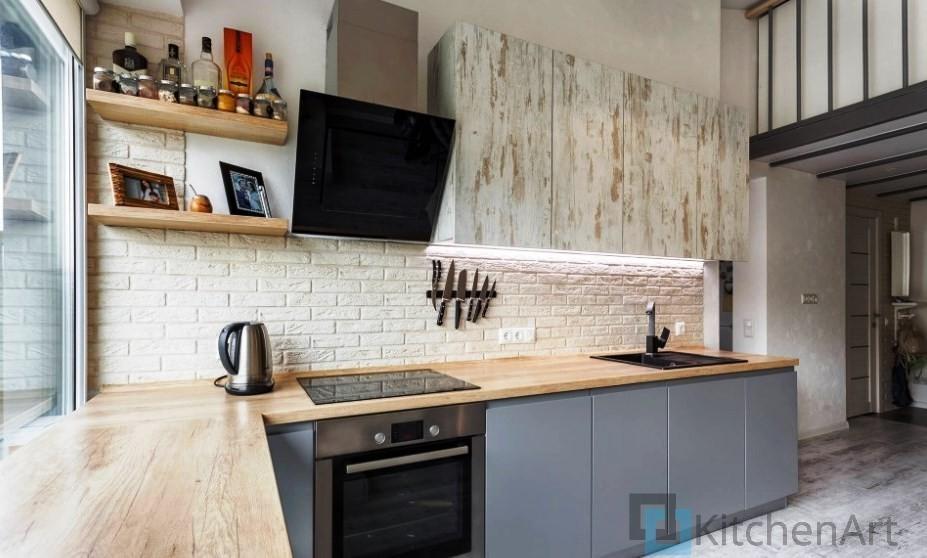 китченарт233 - Кухня в стиле ЛОФТ на Заказ