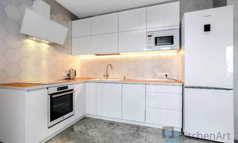 китченарт237 - Белая кухня на заказ