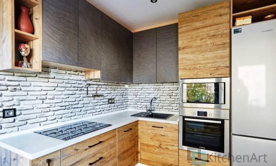 китченарт244 - Шпонированная кухня на заказ