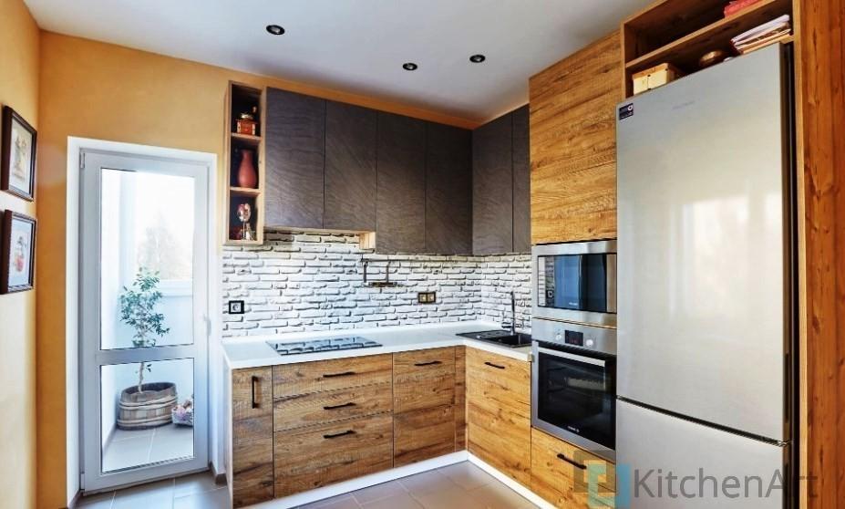 китченарт245 - Шпонированная кухня на заказ