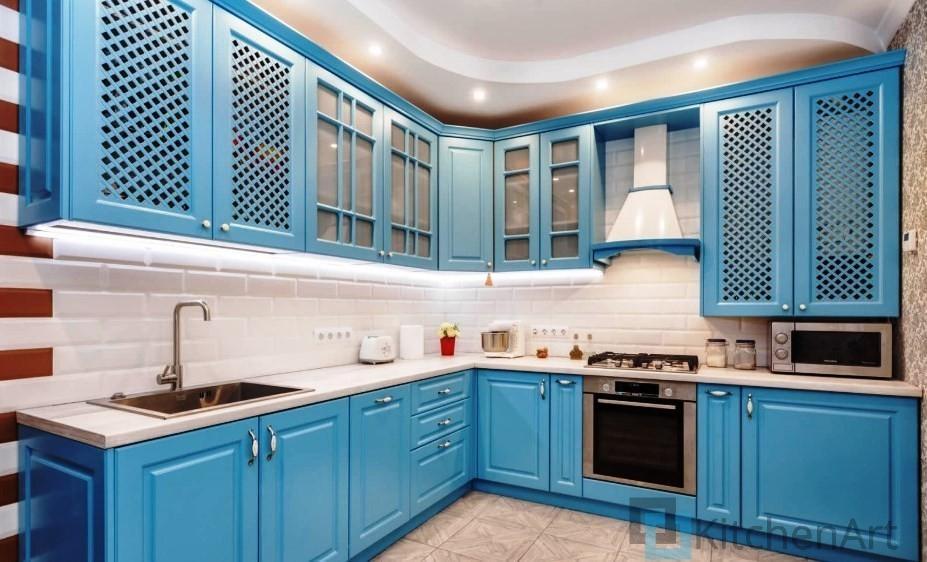 китченарт272 - Синяя кухня на заказ