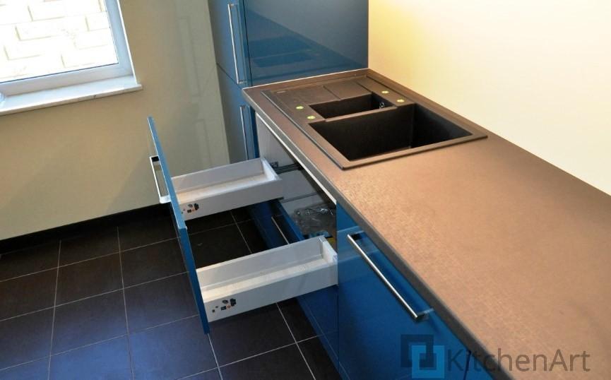 китченарт36 - Синяя кухня на заказ