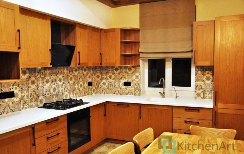 китченарт39 - Шпонированная кухня на заказ