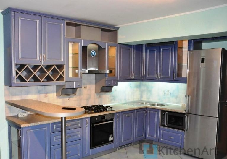 китченарт43 - Фиолетовая кухня на заказ