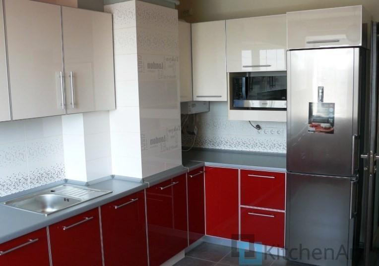китченарт47 - Красная кухня на заказ