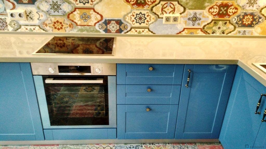 китченарт56 1024x576 - Синяя кухня на заказ