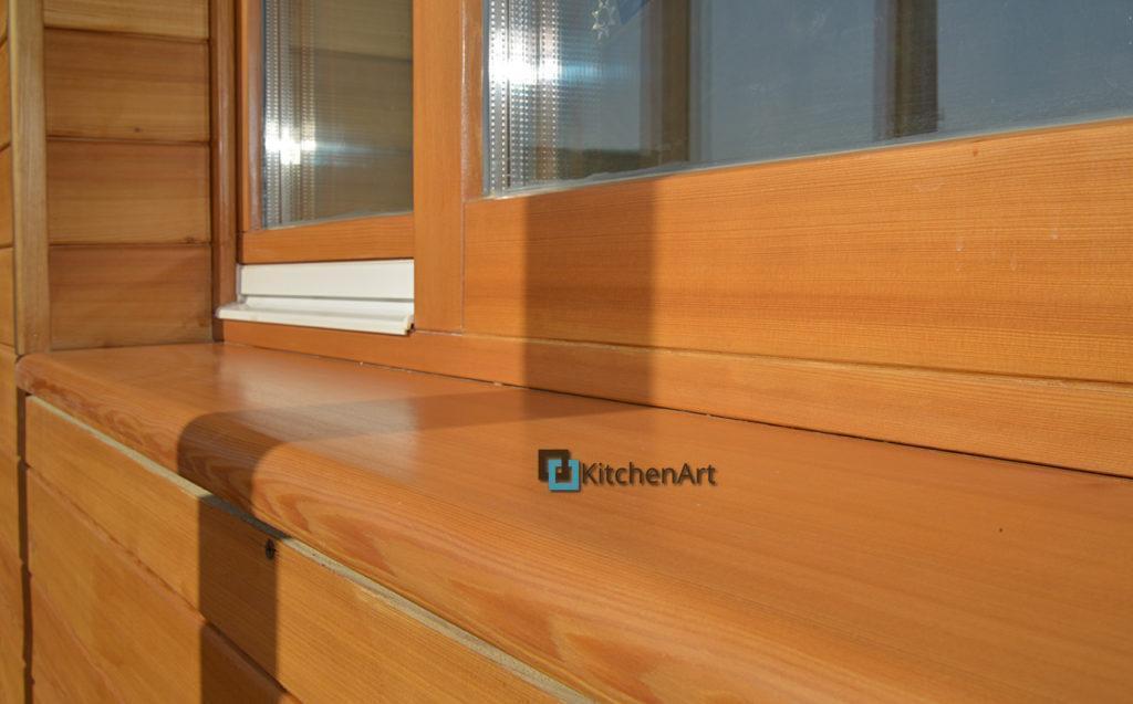 podokonnik iz dereva 6 1024x637 - Деревянный подоконник на заказ