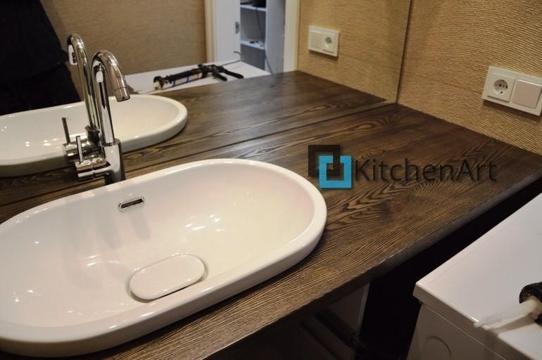 stoleshnica v vannuju 13 - Столешницы из дерева в ванную под заказ
