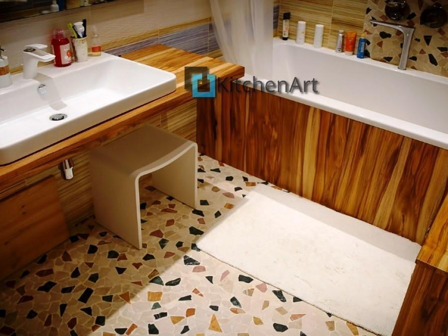 stoleshnica v vannuju 3 - Столешницы из дерева в ванную под заказ